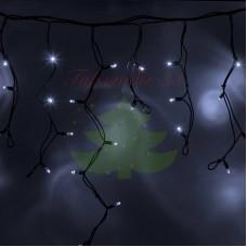 "Айсикл (бахрома) светодиодный, 5,6х0,9м, черный провод ""КАУЧУК"", диоды белые, NEON-NIGHT"