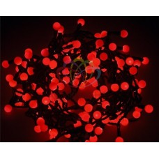 Гирлянда светодиодная ШАРИКИ-LED, Ø17,5мм, 20 м, цвет свечения красный