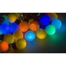 Гирлянда светодиодная ШАРИКИ-LED, Ø45 мм, 10 м, цвет свечения белый