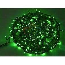 """Гирлянда """"Твинкл Лайт"""" 20 м, 240 диодов, цвет зеленый, черный провод """"каучук"""""""
