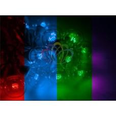 """Готовый набор: Гирлянда """"LED Galaxy Bulb String"""", 30 ламп, 10 м, в лампе 6 LED, цвет мультиколор, провод черный каучуковый, влагостойкая IP54"""