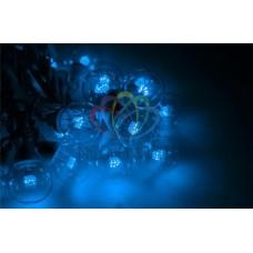 """Готовый набор: Гирлянда """"LED Galaxy Bulb String"""", 30 ламп, 10 м, в лампе 6 LED, цвет синий, провод черный каучуковый, влагостойкая IP54"""