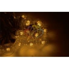 """Готовый набор: Гирлянда """"LED Galaxy Bulb String"""", 30 ламп, 10 м, в лампе 6 LED, цвет желтый, провод черный каучуковый, влагостойкая IP54"""