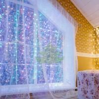 """""""Светодиодный Дождь"""" 1,5х1м, свечение с динамикой, прозрачный провод, диоды МУЛЬТИКОЛОР, NEON-NIGHT"""