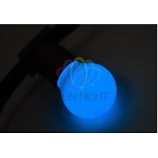Лампа шар 45мм, 3 LED, синяя, 1Вт