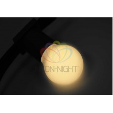 Лампа шар 45мм, 3 LED, тепло-белая, 1Вт