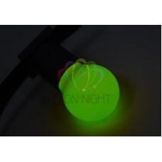 Лампа шар 45мм, 3 LED, зеленая, 1Вт