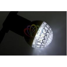 Лампа шар 50мм, 9 LED, белая, 3Вт
