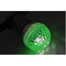 Лампа строб 50мм, ксенон, зеленая, 12Вт