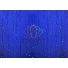 """""""Светодиодный Дождь"""" 2х1,5м, статика, прозрачный провод, диоды СИНИЕ"""