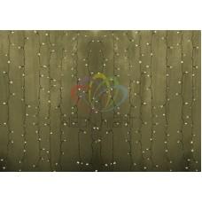 """""""Светодиодный Дождь"""" 2х1,5м, статика, прозрачный провод, диоды ТЁПЛО-БЕЛЫЕ"""