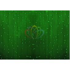 """""""Светодиодный Дождь"""" 2х1,5м, статика, прозрачный провод, диоды ЗЕЛЁНЫЕ, NEON-NIGHT"""