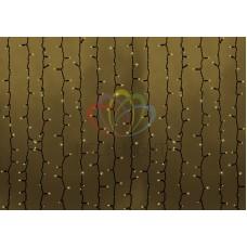 """""""Светодиодный Дождь"""" 2х1,5м, статика, темно-зеленый провод, диоды ТЁПЛО-БЕЛЫЕ, NEON-NIGHT"""