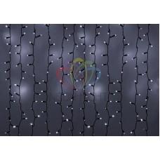 """""""Светодиодный Дождь"""" 2х3м, эффект мерцания, черный провод, диоды БЕЛЫЕ, NEON-NIGHT"""