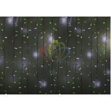 """""""Светодиодный Дождь"""" 2х3м, эффект мерцания, прозрачный провод, диоды ТЕПЛО-БЕЛЫЕ"""