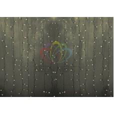 """""""Светодиодный Дождь"""" 2х3м, статика, прозрачный провод, диоды ТЕПЛО-БЕЛЫЕ"""