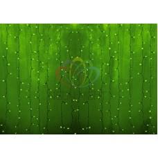 """""""Светодиодный Дождь"""" 2х3м, статика, прозрачный провод, диоды ЗЕЛЕНЫЕ"""