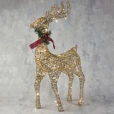 """""""Олень"""", 80 см, 80 LED, 220 В, цвет золото с подсветкой"""