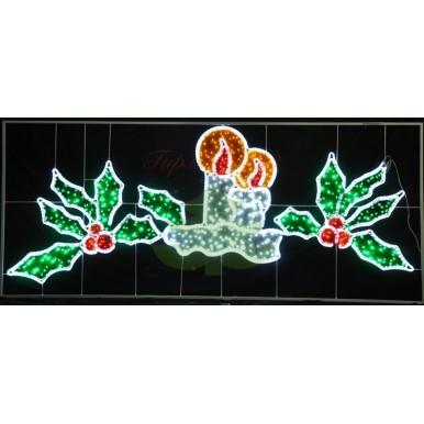 Фигура световая Две свечи размер 330х140см,NEON NIGHT