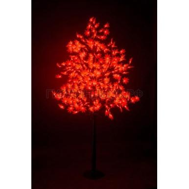 КЛЕН светодиодное дерево, высота 2,1м, Ø кроны 1,8м, диоды красные, IP 65,NEON NIGHT