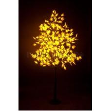 КЛЕН светодиодное дерево, высота 2,1м, Ø кроны 1,8м, диоды желтые, IP 65