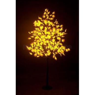 КЛЕН светодиодное дерево, высота 2,1м, Ø кроны 1,8м, диоды желтые, IP 65,NEON NIGHT
