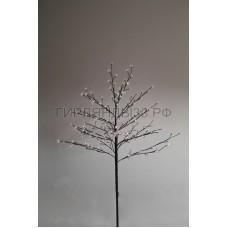 САКУРА светодиодная комнатная, коричневый ствол, 1,2 м, диоды белые (80шт), IP44
