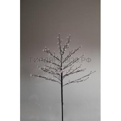 САКУРА светодиодная комнатная, коричневый ствол, 1,2 м, диоды белые (80шт), IP44,NEON NIGHT