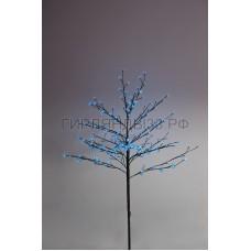 САКУРА светодиодная комнатная, коричневый ствол, 1,2 м, диоды синие (80шт), IP44