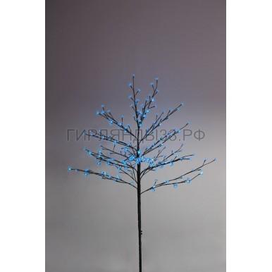 САКУРА светодиодная комнатная, коричневый ствол, 1,2 м, диоды синие (80шт), IP44,NEON NIGHT