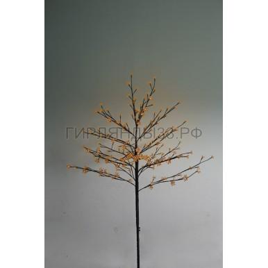 САКУРА светодиодная комнатная, коричневый ствол, 1,2 м, диоды тепло-белые (80шт), IP44,NEON NIGHT
