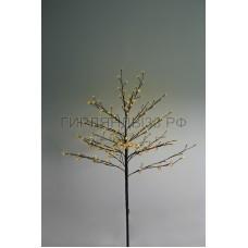 САКУРА светодиодная комнатная, коричневый ствол, 1,2 м, диоды желтые (80шт), IP44