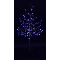 САКУРА светодиодная комнатная, ствол фольга, 1,2 м, диоды синие (80шт), IP44