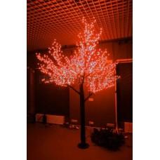 САКУРА светодиодная, высота 1,5м, Ø кроны 1,8м, диоды красные, IP 54