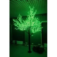 САКУРА светодиодная, высота 1,5м, Ø кроны 1,8м, диоды зеленые, IP 54