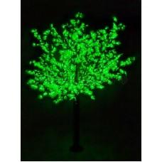 САКУРА светодиодная, высота 3,6м, Ø кроны 3м, диоды зеленые, IP 54