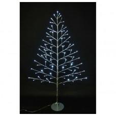 """Световое дерево """"ЕЛЬ"""", зеркальный ствол, круглая подставка, 120 см"""