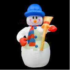 """""""Снеговик с метлой"""", 180 см, с подсветкой, IP 65"""