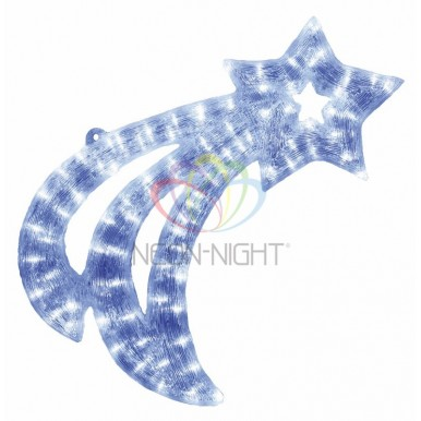 Акриловая светодиодная фигура Летящая Звездочка 62см, 77 светодиодов, IP44,NEON NIGHT