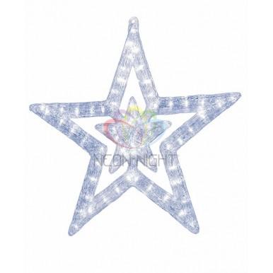 Акриловая светодиодная фигура Звезда 62 см, 63 светодиода, IP44,NEON NIGHT