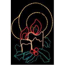 """Фигура """"Две свечи"""", размер 100*75 см"""