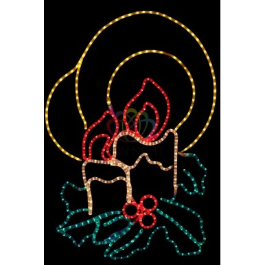 Фигура Две свечи, размер 100*75 см,NEON NIGHT