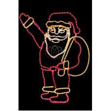 """Фигура """"Санта Клаус с мешком подарков"""", размер 100*100 см"""