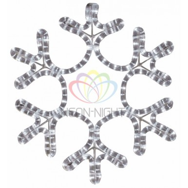 Фигура Снежинка цвет белый, размер 45*38 см,NEON NIGHT