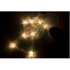 """Фигура светодиодная """"Ангелок"""" на присоске с подвесом, ТЕПЛЫЙ БЕЛЫЙ"""