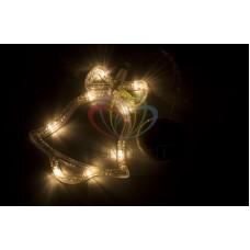 """Фигура светодиодная """"Колокольчик"""" на присоске с подвесом, ТЕПЛЫЙ БЕЛЫЙ"""