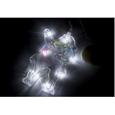 """Фигура светодиодная """"Санта Клаус"""" на присоске с подвесом, БЕЛЫЙ"""