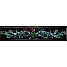 "Фигура световая ""Елка со звездой"" размер 800х150см"
