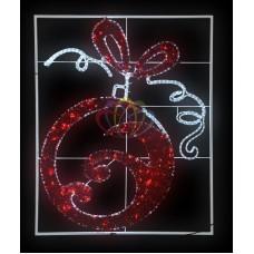 """Фигура световая """"Елочный шар"""" 20м дюралайта, размер 150*120см"""