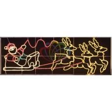"Фигура световая ""Олени везут Санта Клауса на санях"" размер 88*266 см"